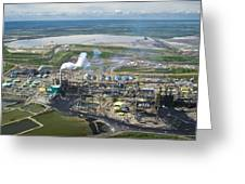 Oil Processing Plant, Athabasca Oil Sands Greeting Card