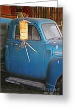 Old Blue Farm Truck Greeting Card