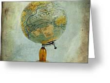 Old Globe Greeting Card