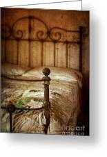 Old Iron Bed Greeting Card