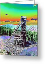Old Mining Structure Greeting Card