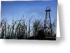 Old Oil Tower Greeting Card