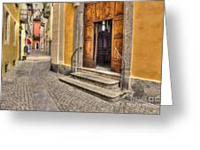 Old Stone Alley Greeting Card
