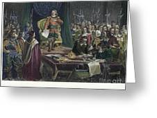 Oliver Cromwell Greeting Card