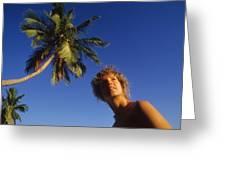 On Little Palm Island Greeting Card
