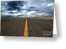 Open Highway Greeting Card
