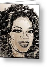 Oprah Winfrey In 2007 Greeting Card