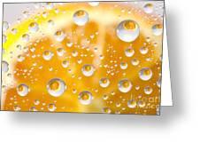 Orange Water Drops Greeting Card