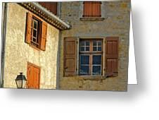 Orange Windows In Provence Greeting Card