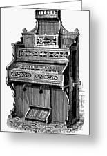 Organ, 19th Century Greeting Card