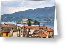 Orta - Overlooking The Island Of San Giulio Greeting Card