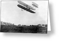 Orville Wright In Wright Flyer, 1908 Greeting Card