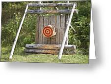 Outdoor Wooden Bulls-eye Greeting Card by Jaak Nilson