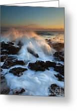 Over The Rocks Greeting Card by Mike  Dawson