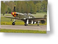 P51d Mustang Greeting Card by Conny Sjostrom