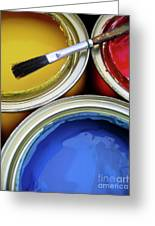 Paint Cans Greeting Card