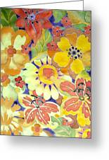 Paints Of Flowers Greeting Card