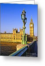 Palace Of Westminster From Bridge Greeting Card