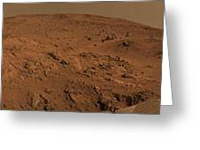 Panoramic View Of Mars Greeting Card
