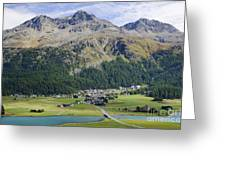 Panoramic View Over Mountain Greeting Card