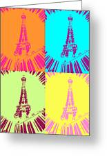 Paris In Vegas Greeting Card by Amber Hennessey