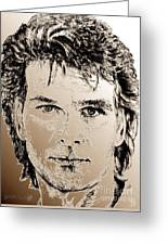 Patrick Swayze In 1989 Greeting Card