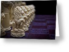 Pawns In A Row Greeting Card