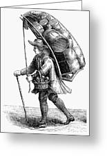 Peddler, 18th Century Greeting Card