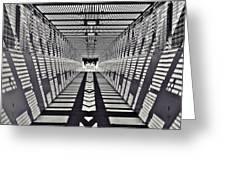 Pedestrian Bridge Greeting Card