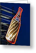 Pepsi Cola Bottle Greeting Card