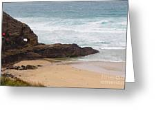 Perranporth In The Winter Greeting Card