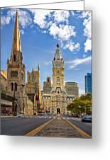 Philadelphia City Hall  Greeting Card