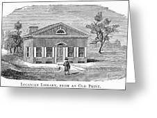 Philadelphia: Library Greeting Card