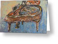 Piano Study 1 Greeting Card