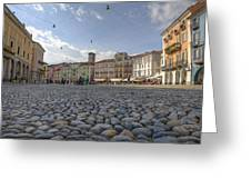 Piazza Grande - Locarno Greeting Card
