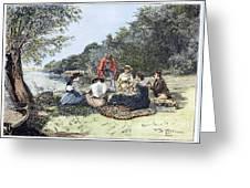 Picnic, 1885 Greeting Card