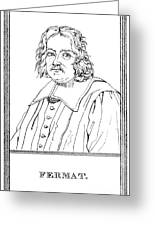 Pierre De Fermat, French Mathematician Greeting Card by Science Source