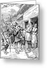 Pilgrims: Thanksgiving, 1621 Greeting Card