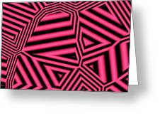 Pink And Black Abstract Greeting Card