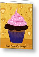 Pink Frosted Cupcake Greeting Card