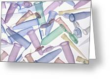 Pipette Tips And Sample Tubes Greeting Card