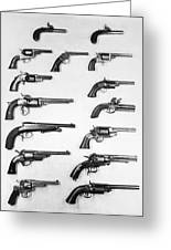 Pistols And Revolvers Greeting Card