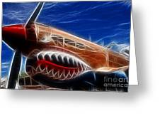 Plane Flying Tigers Greeting Card