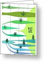 Plant Evolution, Diagram Greeting Card by Gary Hincks