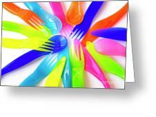 Plastic Cutlery Greeting Card
