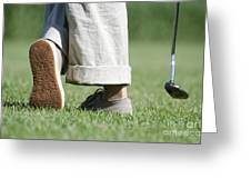 Playing Golf Greeting Card