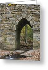 Poinsett Bridge With Gothic Arch Of Stone Greeting Card