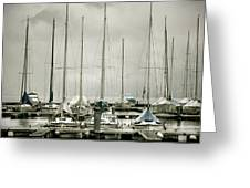 Port On A Rainy Day Greeting Card