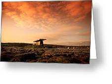 Poulnabrone Dolmen, The Burren, Co Greeting Card