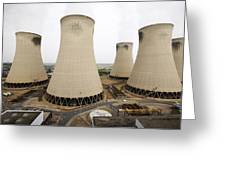 Power Station Cooling Towers Greeting Card